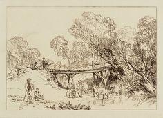 "J.M.W. Turner (1775-1851), ""Bridge and Cows"" - Tate Britain ~ London, England"
