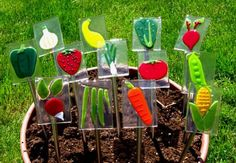 Vegetable Garden Markers by SlateGlass on Etsy