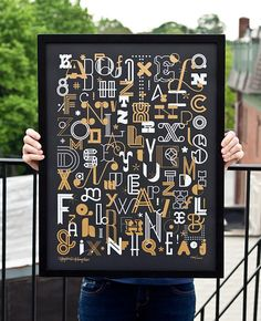 The Letters Poster |Fifty Five Hi's