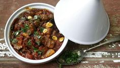 Main: the best lamb tagine, so flavoursome! Served with cumin crunch, yoghurt, bulgur and khobz.