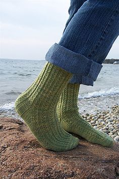 Ravelry: Hedgerow Socks pattern by Jane Cochran Crochet Socks, Knit Or Crochet, Knitting Socks, Knitted Hats, Knit Socks, Knitted Slippers, Crochet Granny, Knitting Patterns Free, Free Knitting