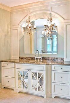 Chandeliers as bathroom lights