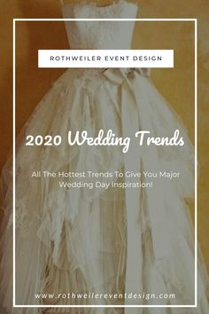 2020 wedding trends youll see everywhere including 2020 wedding colors and 2020 wedding dresses. Check out these 9 wedding trends to help you start planning your wedding day! Wedding Dress Trends, Wedding Gowns, Types Of Gowns, Traditional Gowns, Wedding Venue Inspiration, Wedding Ideas, Bridal Skirts, Space Wedding, Bridal Fashion Week