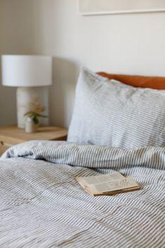 Navy Blue Stripes Duvet – Foxtrot Home Striped Bedding, Linen Bedding, Bedding Sets, Duvet, Bed Linen, Ticking Stripe, Flat Sheets, Bed Sheets, California King Sheets