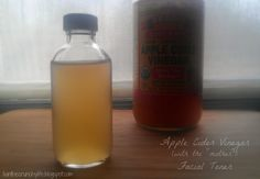 DIY Apple Cider Vinegar Facial Toner.  I do this 1:3 dilution (1 part ACV with mother, 3 parts water) and a generous amount of tea tree oil (15-30) drops.  Love it!