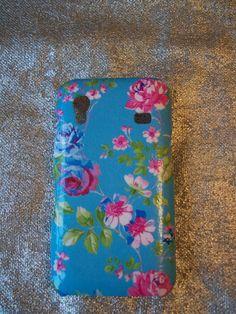 Handmade Blue Floral Samsung Galaxy Ace Cover. £6,00, via Etsy.
