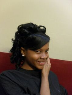 I think she like her hair.... .*All work done by *NueNew the Hair Diva