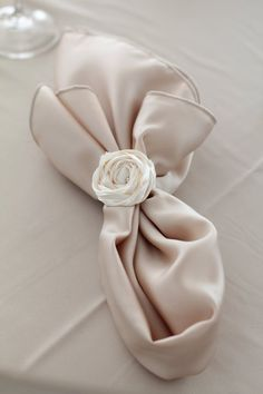 napkins & napkin rings (wedding by Old, New, Borrowed & Blue Wedding and Event Planning)