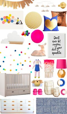 A Happy Glam Nursery