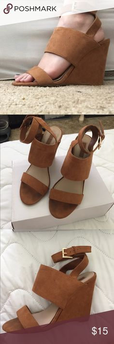 Tan wedges Forever 21 tan wedges Forever 21 Shoes Wedges