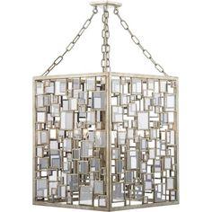 Foyer 4 Light Ceiling Pendant with Antique Silver Gold Finish Art Deco Lighting, Dar Lighting, Interior Lighting, Ceiling Pendant, Pendant Lighting, Ceiling Lights, Light Pendant, Gold Pendant, Indoor Lanterns