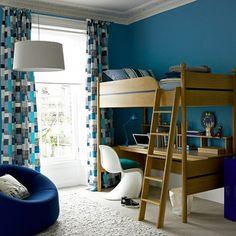 Classy, retro style kids bedroom