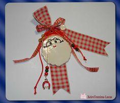 κεραμικά γούρια Άγιος Βασίλης Charmed, Christmas Ornaments, Holiday Decor, Handmade, Home Decor, Hand Made, Decoration Home, Room Decor, Christmas Jewelry