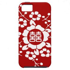 Reverse Paper Cut Flowers • Happiness iPhone 5 Cover // Does that red make you ill? Just pick your own background color! $44.95