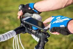 Quad Lock Bike Mount Kit Securely Keeps Smartphones In Place While You Ride The iPhone 6 is an amazing device that has near limitless uses because of all the apps available for it. These are ideal when traveling in motorized v. Mountain Bike Accessories, Mountain Bike Shoes, Cool Bike Accessories, Iphone Accessories, Mountain Biking, Best Iphone, Iphone 6, Iphone Cases, Bike Mount