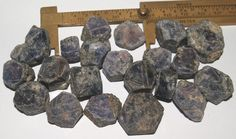 Blue Sapphire Crystals Rough Kenya Up To 25mm 152 Grams