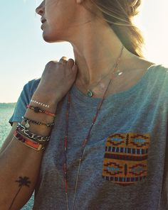 Suns out. Cool tee, beach bling, and a very happy me, is out. Sorry, that did not rhyme at all.  [[MORE]] NO & YO Tee // Scmyk Jewelry /...