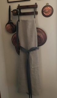 Shop Linen Aprons at Katie And Company. Our gorgeous linen apron is made in the USA. Linen Apron, Natural Linen, Aprons, Home Goods, Kitchen Design, How To Make, Inspiration, Biblical Inspiration, Design Of Kitchen