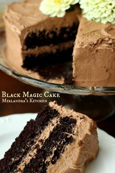 Black Magic Cake - love the light and dark chocolate colors!
