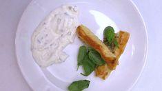 Tyčinky z listového těsta s mozzarellou podávané s česnekovo-pažitkovým dipem Mozzarella, Dip, Meat, Chicken, Food, Salsa, Essen, Meals, Yemek