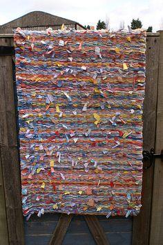Twined Rag Rug (back) | Flickr   Photo Sharing! Rug LoomMacrame ArtLocker  HookingDiy ...