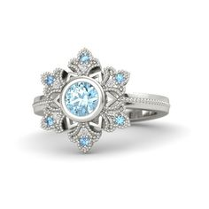 Snowflake Ring (16.630 ARS) ❤ liked on Polyvore featuring jewelry, rings, accessories, 18 karat white gold ring, snowflake ring, handcrafted jewellery, handcrafted jewelry and white gold rings