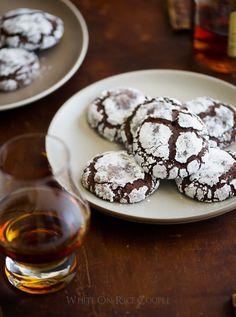 Bourbon Dark Chocolate Crack Cookies