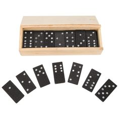 Classic Wooden Domino Game Set 28 Pcs Casino Theme Parties, Casino Party, Steam Toys, Engineering Toys, Make Your Own Calendar, Fun Worksheets, Educational Toys For Kids, Poker Chips, Dinners For Kids