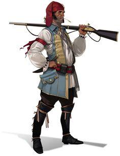 Okirionská milice z mušketou
