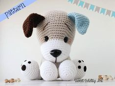 Looking for Amigurumi Dog Crochet Patterns? There are lots of cute puppy patterns to try. There are amigurumi tips too for beginners. Chat Crochet, Crochet Mignon, Crochet Dolls, Dog Crochet, Crochet Hedgehog, Crochet Dog Patterns, Amigurumi Patterns, Amigurumi Doll, Stuffed Animal Patterns