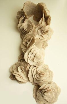 Detodomanualidades: Manualidades, como hacer una bufanda de fieltro