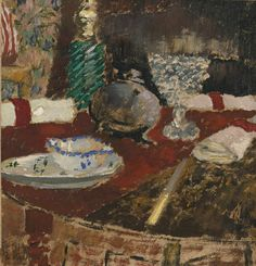 Édouard Vuillard (French, 1868-1940), La saucière et les ronds de serviette, c.1896-97. Oil on card, 21.1 x 20.2 cm.