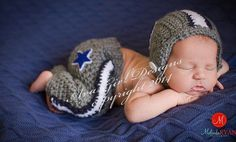 Newborn baby Dallas Cowboy football helmet pant by AvaGirlDesigns, $60.00