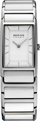 Bering Ladies Silver Dial White Ceramic Bracelet Watch 30121-754
