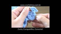 Crochê para Canhotas - Guia de Pontos - Aula 36 - Ponto Escama (Crocodil...