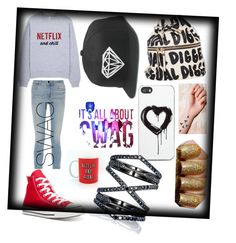 """""""SWAG IT OUT"""" by emmymofield ❤ liked on Polyvore featuring Alexander Wang, Converse, Zero Gravity, Eva Fehren, women's clothing, women, female, woman, misses and juniors"""