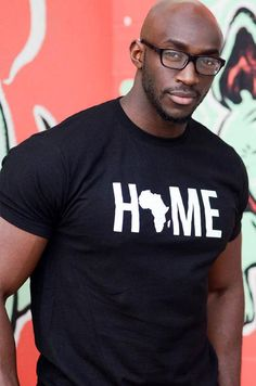 Africa is HOME Tee Africa t-shirt I love Africa shirt Black Man, Fine Black Men, Gorgeous Black Men, Handsome Black Men, Black Men Beards, Beautiful, African Clothing For Men, African Shirts, African Men Fashion