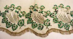 detail overrok, (1865-1875), textieldepot Museum de TwentseWelle, eigendom van Oudheidkamer Twente