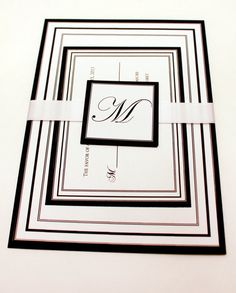 Black and White Wedding Invitation Black and White by SweetSights, $3.25