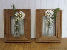 how i made wall vases from repurposed spice jars and wood frames, crafts, diy, home decor, how to, repurposing upcycling, woodworking projects, Wall vases