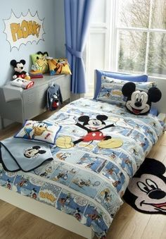 MICKEY MOUSE BLUE TWIN OFFICIAL LICENSED WALT DISNEY COTTON DUVET QUILT COVER by PCJ SUPPLIES, http://www.amazon.com/dp/B005WH6EV0/ref=cm_sw_r_pi_dp_FwvErb1ND1MRA