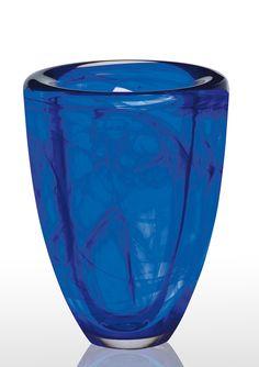 Kosta Boda cobalt blue vase