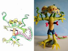 kids drawings turned into plush toys 7
