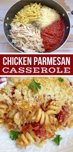 Looking for easy chicken dinner recipes for the family? This rotisserie chicken parmesan baked pasta is DELISH! Even your picky eaters will devour it. Its cheap and made with simple ingredients. The perfect main dish for busy weeknight meals.