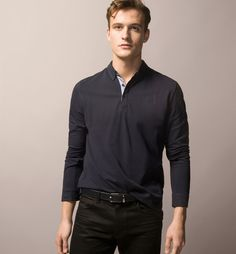 LONG SLEEVE POLO SHIRT WITH ELBOW PATCHES