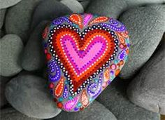 Painted Rock Hearts - Bing Images