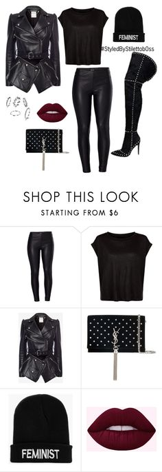 """""""Fem"""" by stilettob0ss on Polyvore featuring Venus, Alexander McQueen, Yves Saint Laurent and Boohoo"""