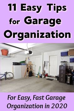 11 Easy Tips for Garage Organization Organisation Hacks, Garage Organization Tips, Garage Storage, Clean Garage, Small Garage, Declutter Your Home, Organizing Your Home, Organizing Toys, Clutter Solutions