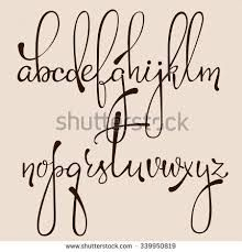 Image result for how to write in easy calligraphic style