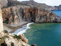 Agiofarago Beach, Matala, Crete, Greece, after easy walk through the Gorge.